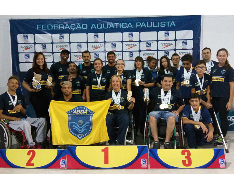 Equipe paralímpica da ABDA fecha o ano com a maior quantidade de ouro no Paulista de Paranatação