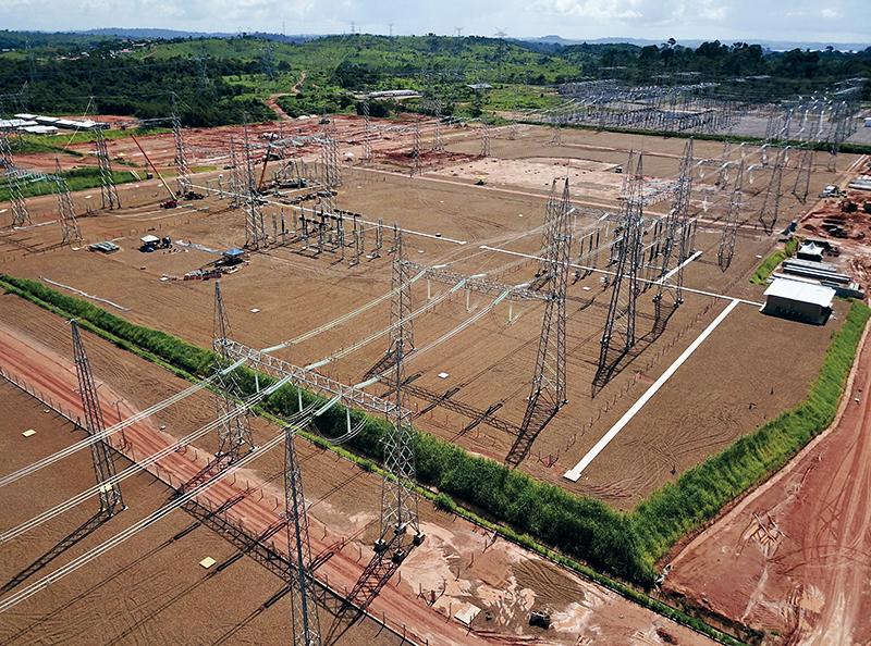 Barramento 500kV interliga a subestação existente com os Bipólos 1 e 2