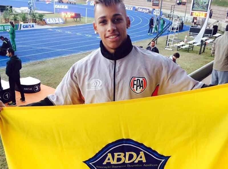 Cleverson Junior, atleta da ABDA, competiu em duas provas no Brasileiro sub-20