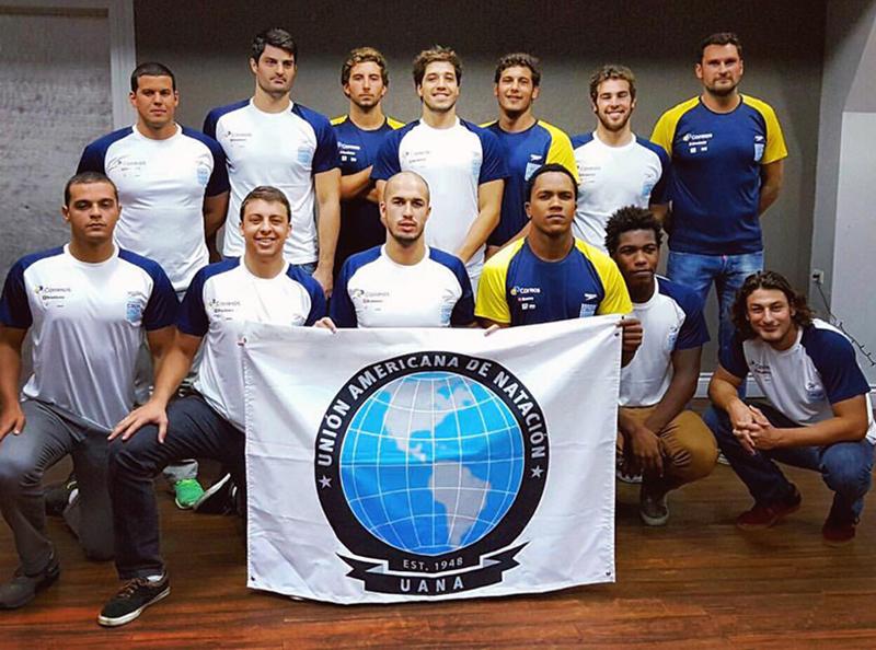 Atleta da ABDA é campeão, junto com a seleção brasileira, da Copa UANA de polo aquático masculino